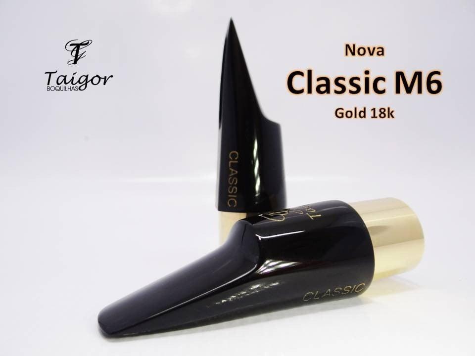 Boquilha Taigor Sax Alto Classic M6 Preta S/ Abraçadeira