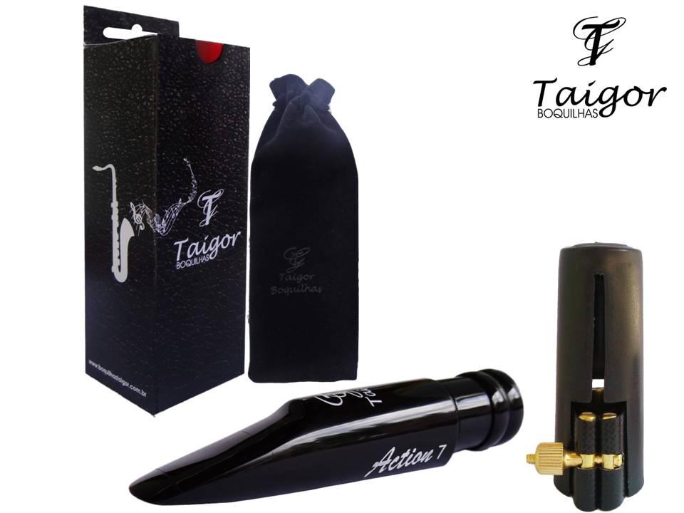 Boquilha Taigor Sax Tenor Action 7 C/abraçadeira