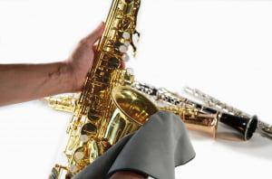 Pano de Limpeza Corpo Saxofone Tenor Bambú